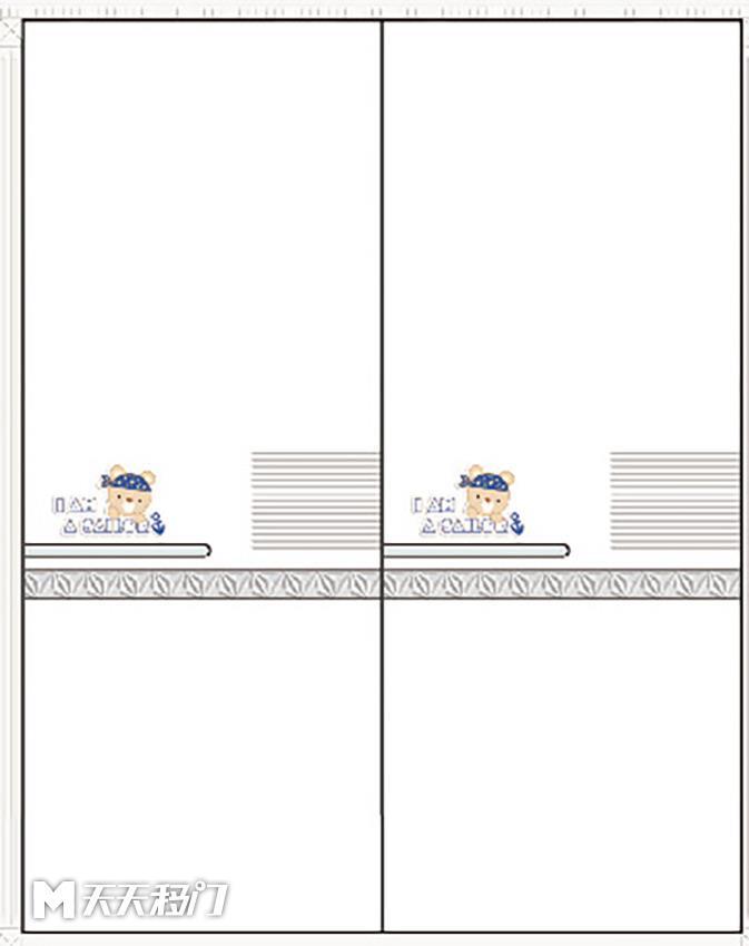 熊字母线条移图 sep-0981