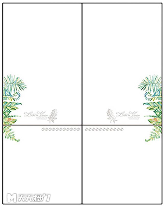 花纹叶子字母移图 sep-0256