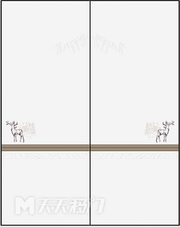 色块、字母、鹿、色块、横线、咖色、腰线、原木、移图 tr3231