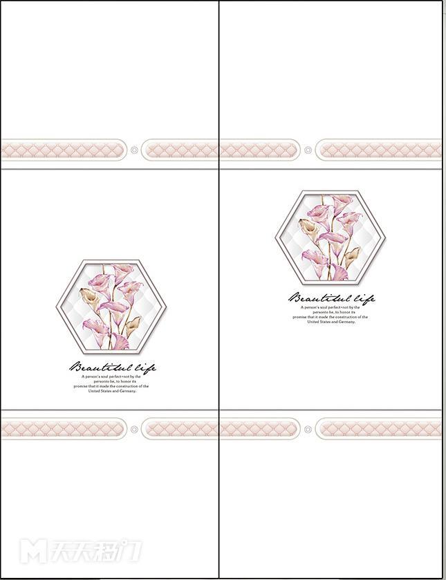 画、菱格、横线、马蹄莲、多边形、移图 tr3320