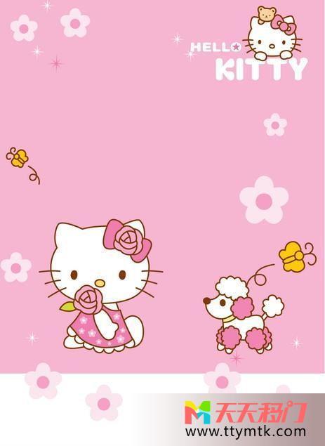 粉色卡通唯美粉色创意移图 Hello  Kitty粉色SY-1339粉色创意