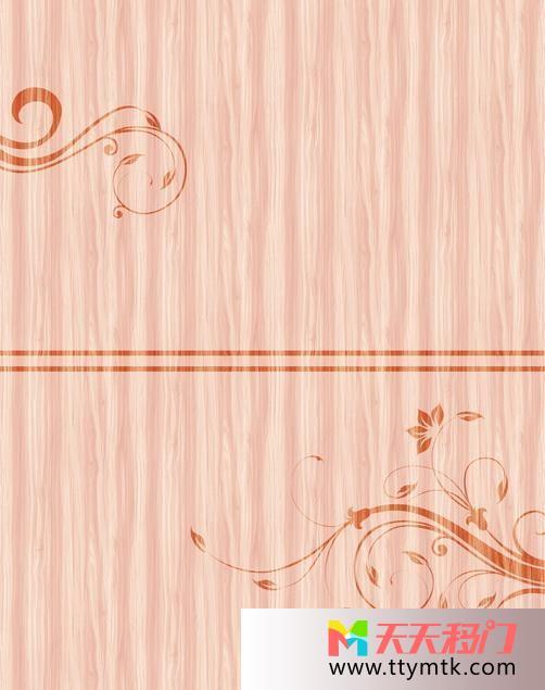 木纹花朵勾勒移图 木纹印象玻璃橱窗移门TC-123